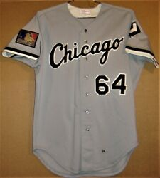 Chicago White Sox Rick Peterson 1994 Gray Button-down Jersey