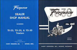 1951 1952 1953 1954 Ferguson To 30 Set Of 2 Manuals Tractor Owner And Shop Books