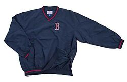 NEW MLB Boston Red Sox Navy Blue Pullover 3XL Windshirt FREE SHIPPING