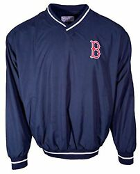 NEW MLB Navy Blue Boston Red Sox Pullover L Windshirt FREE SHIPPING