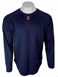 NEW MLB Classic Boston Red Sox Majestic Blue Fleece Shirt M FREE SHIPPING