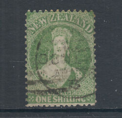 New Zealand Sc 37a, Sg 125, Used 1864-72 1sh Dull Yellow Green, Scarce Colorcert