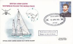 Gb 1974 Whitbread Round The World Race British Army Arrival Cover With Enc. Vgc