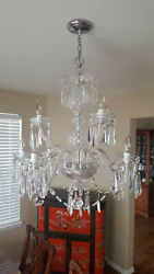 Vintage Waterford Crystal Chandelier 9-Arm Cranmore Crystal Prisms Ropes Ireland