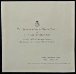 The International Staff Band Of The Salvation Army 1st Cdn Tour Photo 1952