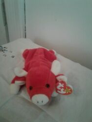 Ty Snort The Bull Beanie Baby Rare Duecshland Mint And Mint Tags