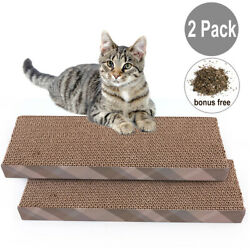 2x Cat Scratch Cardboard Catnip Scratching Pad Scratcher Lounge Sofa Bed Post