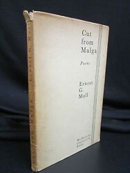 Vintage Australian Poetry - Cut From Mulga - By Ernest Moll - 1940 Melbourne