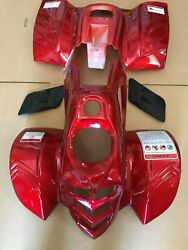 Atv Body Plastic Fender And Vents For Taotao Ata-110b 110cc Pather Red Or Burgundy