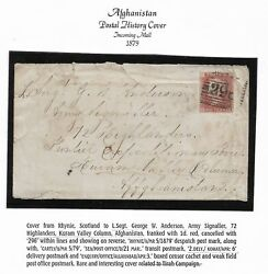 Gb Scotland 1879 Army Kuram Valley Campaign Afghanistan With Rare Markings
