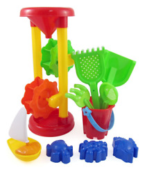 Liberty Imports Double Sand Wheel Beach Toy Set for Kids with Bucket Shovels R $17.92