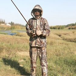 Anti-mosquito Breathable Men Camouflage Suit Outdoor Jacket Hunting Fishing Coat