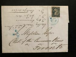 1880s Canada Letter Sheet Cover To Toronto Stamp Sc 21 Half Cent Cv 75.00