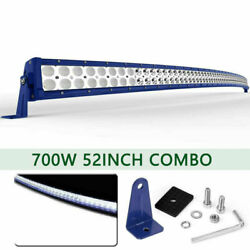 Curved 54inch 1040w Led Light Bar Flood Spot Driving Truck Boat Suv 4wd 52''