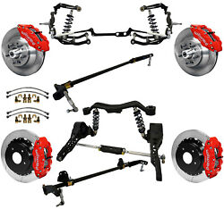 Ridetech Coiloversteering Systemboth Sway Barswilwood Disc Brakes13red