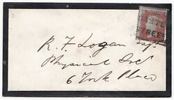 # 1854 NOV 21 CASTLE STREET EDINBURGH SCOTS LOCAL CANCELLATION EARLY DATE COVER