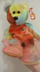 Rare Ty Vintage Beanie Babies Peace Bear - P.e Pellets And All Tag Errors 👀