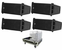 4x RCF HDL6-A Active Line Array Speakers + ProX X-RCF-HDL6ALAX4W Flight Case