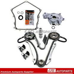 Timing Chain Kit Timing Cover Gasket Oil Pump Fits 02-05 Chrysler Dodge 2.7l