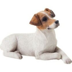 Jack Russell Terrier Figurine Hand Painted Brown Smooth - Sandicast