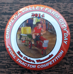 2014 Pedal Tractor Pull Competition Chippewa Valley Eau Claire Wisconsin Pin