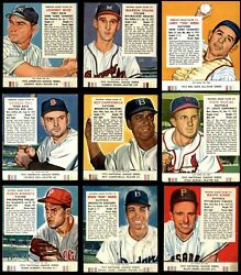 1953 Red Man Partial Complete Set - w Tabs VG