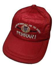 Ferrari Snapback Hat Red Vintage 100 Cotton Tractor Factory Embroidered