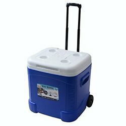 Igloo Ice Cube Roller Cooler (60-Quart, Ocean Blue) 20 x 18.5 x 20.69inches