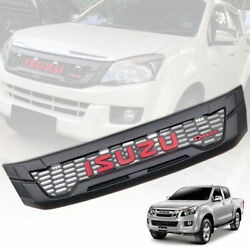 With White 4 Led Matte Black Front Grill Grille For Isuzu D-max D-max 2012-2014