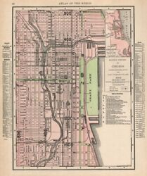 Chicago Loop Downtown Town City Map Plan. Illinois. Rand Mcnally 1912 Old