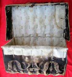 Fine And Rare Decorator Spanish Colonial Late 1700s Early 1800s Hide Chest