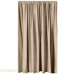 Cream Movie Theater Noise/sound Reduction Thermal Velvet Curtain 96 Inch H Panel