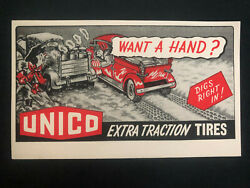 Mint Usa Advertising Postcard Stationary Cover Unico Extra Traction Tires
