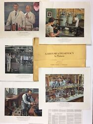 1957 Parke-davis A History Of Pharmacy In Pictures Complete Set 40 Prints Vintag