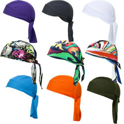 Quick Dry SKULL CAP Du Rag Head Wrap Motorcycle Biker Do Doo Bandana Tie Cap hat