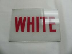 Vintage American Gas Service Station Bathroom Signs Glass White Black History