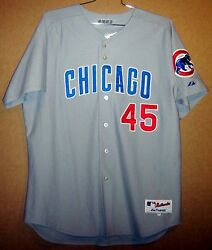 Chicago Cubs Sean Marshall Gray Button-down Game Worn 45 Mlb Size 50 Jersey