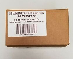 2017-18 Panini Basketball Spectra Factory Sealed Case 8 Hobby Boxes