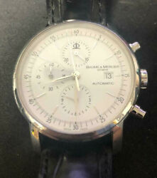 Mens Baume And Mercier Geneve Automatic 5752611 White Dial Watch
