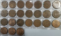 1940 1965 New Zealand 1/2 Penny Collection Complete Date Set Coins 19062503r