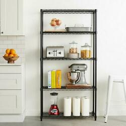 5 Layer Plastic Coated Iron Shelf Garage Storage Metal Rack Shelving Space Save