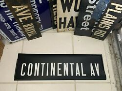 Mylar Nyc Subway Roll Sign Continental Metropolitan Avenue Forest Hills Queens
