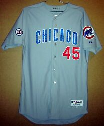Chicago Cubs Sean Marshall Gray Button-down 45 Game Worn Size 48 Mlb Jersey