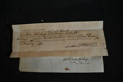 1856 John And William Bishop Debt Plea And Promissary Note Caroline County Md