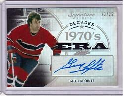Guy Lapointe /15 Itg Leaf Signature Series 1970and039s Era Auto Autograph Silver /25