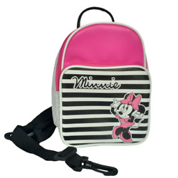DISNEY Minnie Mouse Canvas Mini Cute Travel Backpack Teens and Girl Pink Gray $35.99