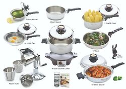 Kitchen Craft Cookware - Classic Set Plus - Lifetime Warranty - All Us Made