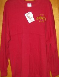 Press Box Womenand039s Iowa State University Go Cyclones Sequin Long Sleeve Shirt Med