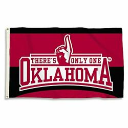 Bsi Ncaa Oklahoma Sooners Flag With Grommets, 3' X 5', Red