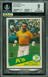 1985 Topps Mini 12 Dave Lopes Bgs 9 Mac Solo Finest Graded 100 Cards Made